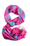 Pink scarf Stock Image