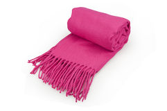 Pink scarf. On a white background Stock Photography