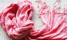 Pink Scarf Royalty Free Stock Photo
