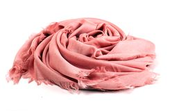 Pink scarf Stock Images