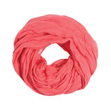 Pink scarf isolated on white Royalty Free Stock Image