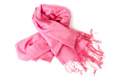 Pink scarf Royalty Free Stock Photos