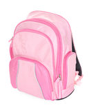 Pink school backpack Royalty Free Stock Photos