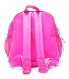 Pink school backpack Stock Image