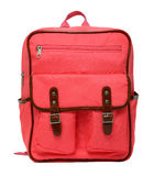 Pink school backpack isolated Royalty Free Stock Photography