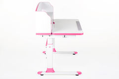 Pink school desk Royalty Free Stock Photos