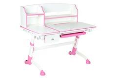 Pink school desk Stock Image