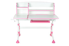Pink school desk Royalty Free Stock Photography