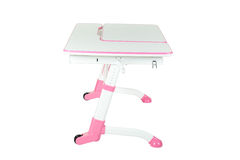 Pink school desk Royalty Free Stock Photo