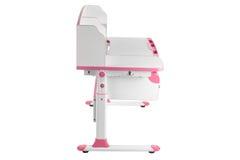 Pink school desk Royalty Free Stock Image