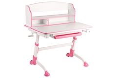 Pink school desk Royalty Free Stock Images