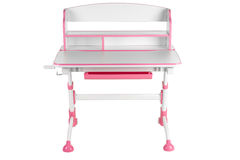 Pink school desk Royalty Free Stock Image