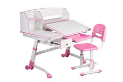 Pink school desk and pink chair Royalty Free Stock Images