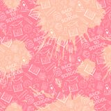 Pink school pattern Royalty Free Stock Photography