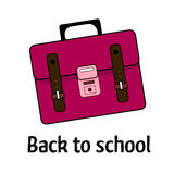 Pink school's bag Royalty Free Stock Photo
