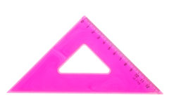 Pink school triangle Stock Image