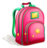 A pink schoolbag Royalty Free Stock Photos
