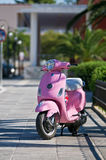 Pink Scooter stock images