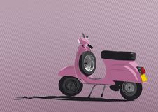 Pink Scooter Illustration. Illustration of the greatest scooter ever. Easy to change colors in vector file. Just edit the global swatches Royalty Free Illustration