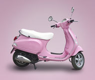 Pink scooter. Isolated on pink Royalty Free Stock Images