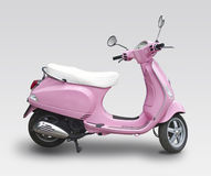 Pink scooter. Isolated on white Stock Photo