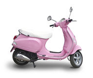 Pink scooter. Isolated on white Stock Image