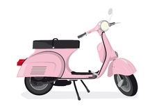 Pink Scooter Vector Illustration Stock Photo