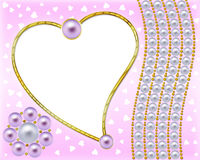 Pink scope for a photo royalty free illustration