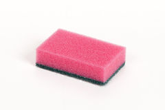 Pink scouring sponge Royalty Free Stock Photography