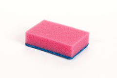 Pink scouring sponge Royalty Free Stock Images