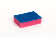 Pink scouring sponge Stock Photography
