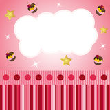 Pink scrap background with cloud Royalty Free Stock Images