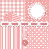 Pink scrapbook set Royalty Free Stock Image