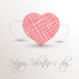 Pink scribbled heart Royalty Free Stock Photography