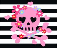 Pink scull flowers Stock Photography