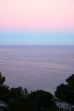 Pink on the sea Royalty Free Stock Photography
