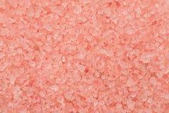 Pink sea salt crystals macro shot, abstract texture.  royalty free stock photo