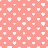 Pink seamless background with hearts Stock Photo