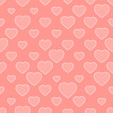 Pink seamless background with hearts Royalty Free Stock Image
