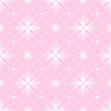 Pink seamless background with openwork white Royalty Free Stock Photography