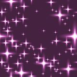 Pink seamless background with shining stars. Stock Images