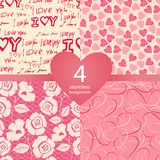 Pink seamless backgrounds Stock Photography