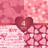 Pink seamless backgrounds Royalty Free Stock Images