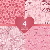 Pink seamless backgrounds Stock Images