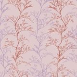 pink seamless botanical pattern hand with grass plants royalty free illustration