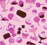 Pink seamless candy pattern Stock Photos