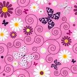 Pink seamless floral pattern Stock Photos