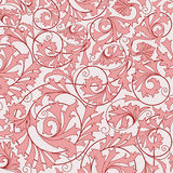 Pink seamless flower pattern Royalty Free Stock Image