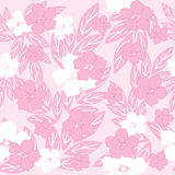 Pink seamless flowers Royalty Free Stock Photos