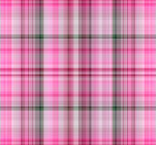 Pink seamless gingham pattern. Stock Images
